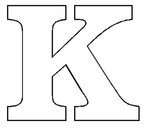 4 Best Images of Printable Block Letter K - Block Stencil ...