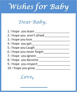 baby boy shower free printable baby shower wishes printable baby