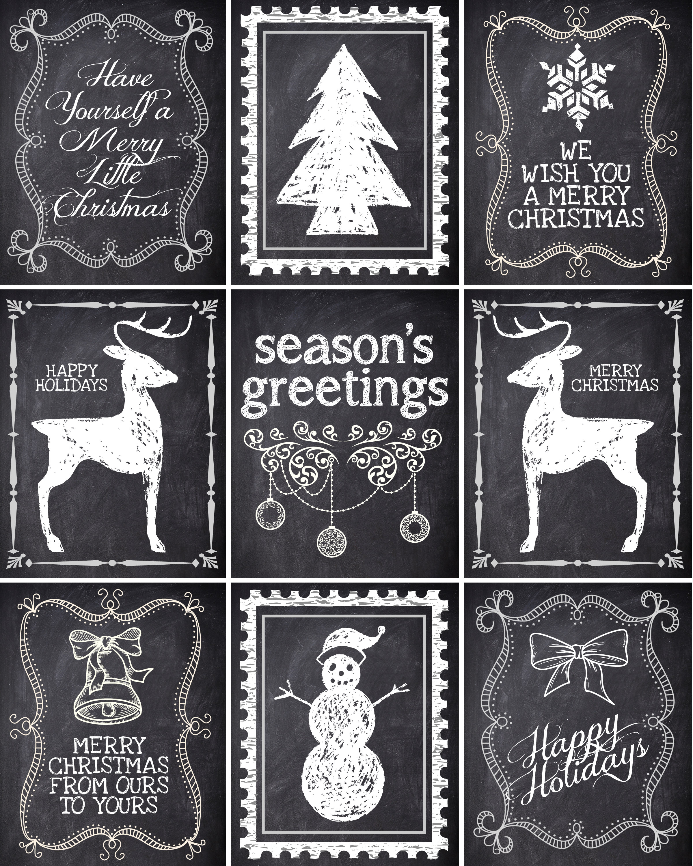 7 Images of Chalkboard Christmas Tag Printable