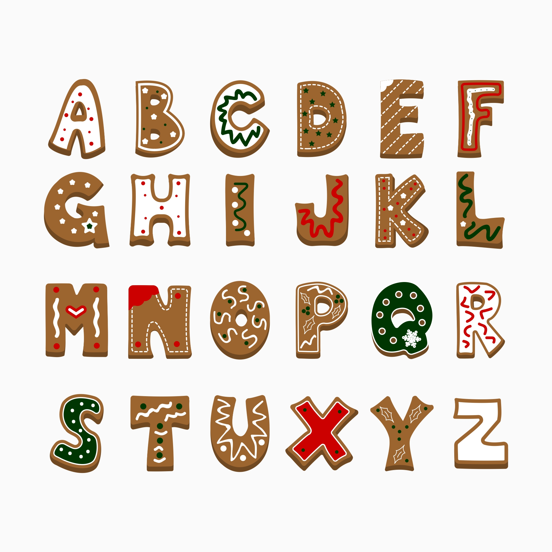 7 Images of Printable Christmas Bubble Letters