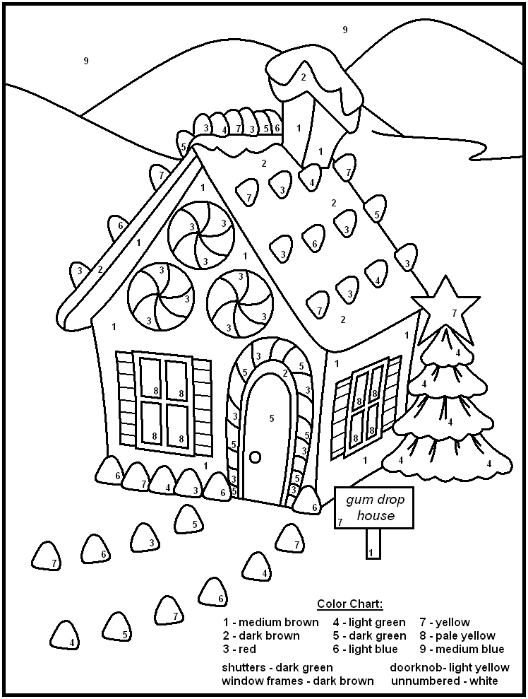 Free Printable Color By Number Christmas Worksheets - Intrepidpath