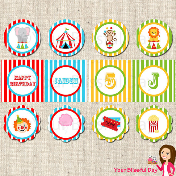 6 Images of Circle Circus Printables Free