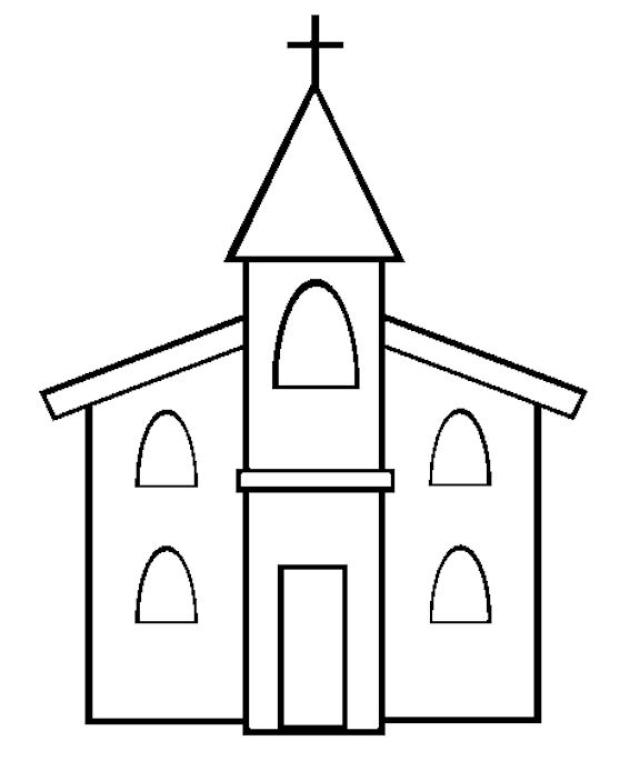 4 Images of Printable Church Pictures To Color