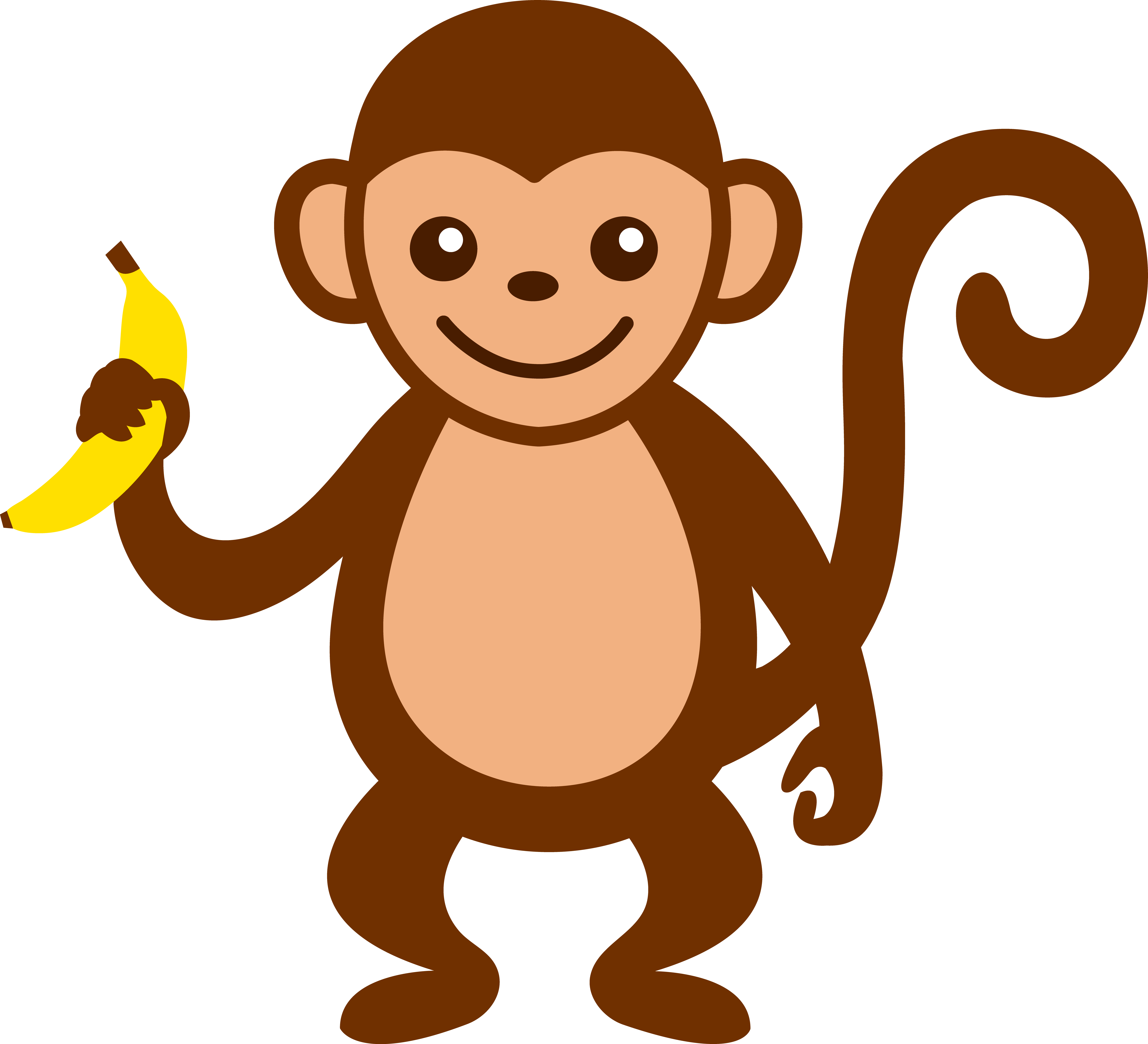 9 Images of Free Printable Monkey Graphics