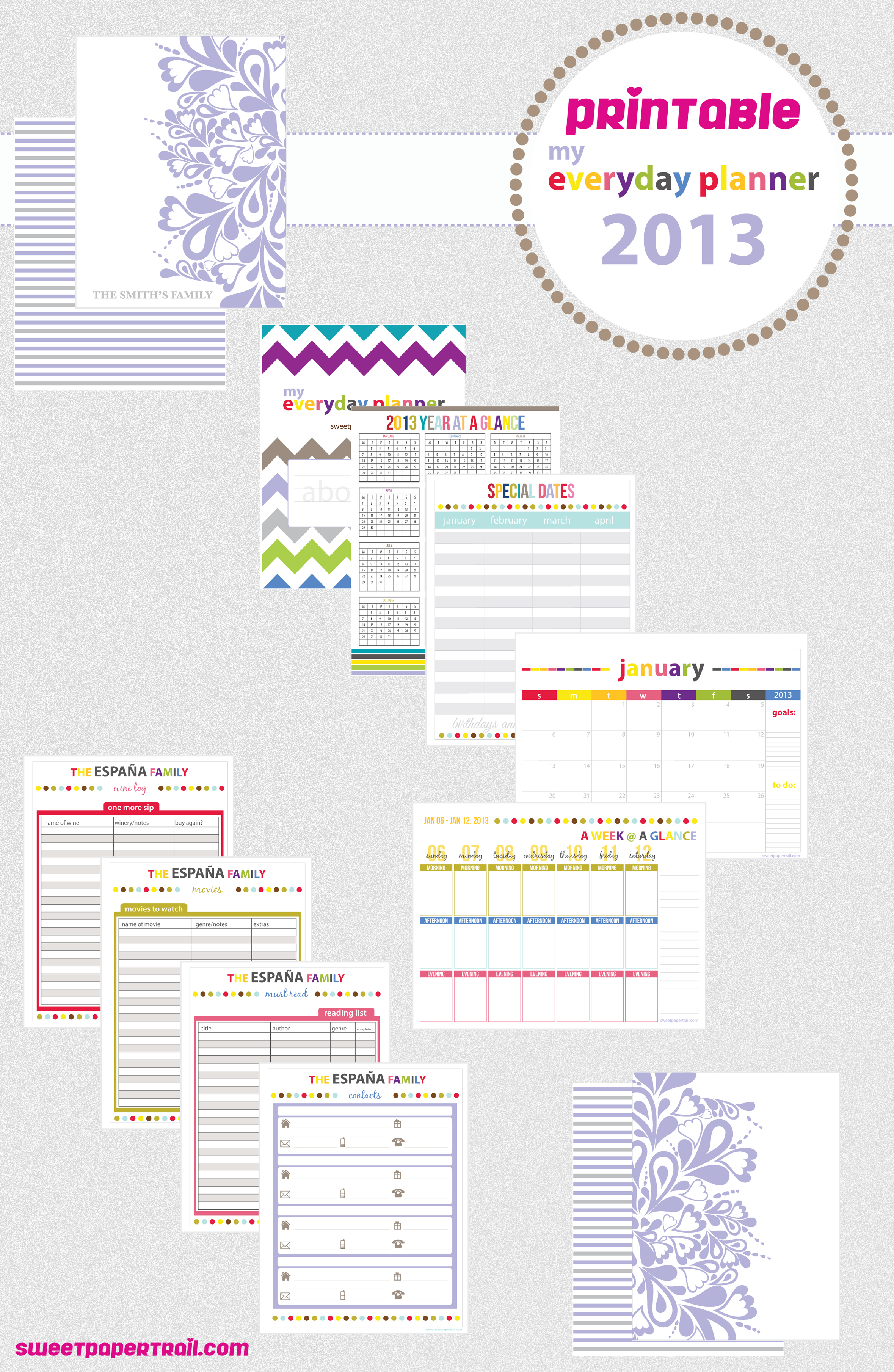 Cute Printable Planner Pages