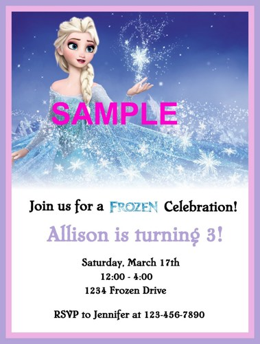 Disney Frozen Invitation Printable Free