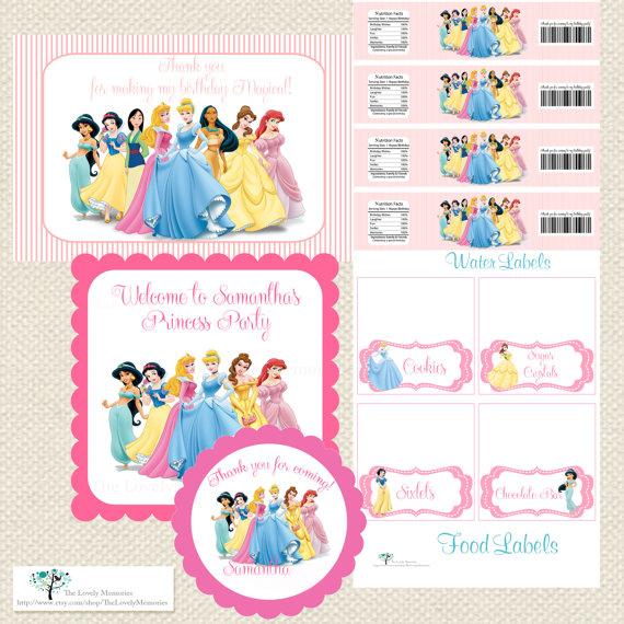 Disney Princess Party Printables
