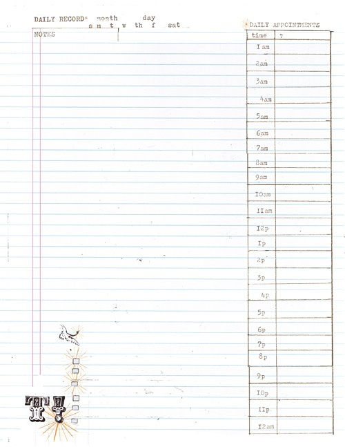 DIY Daily Planner Templates