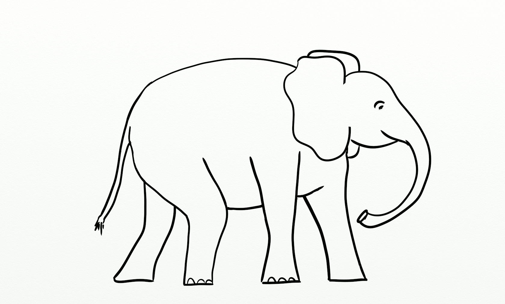 Elephant Outline Printable