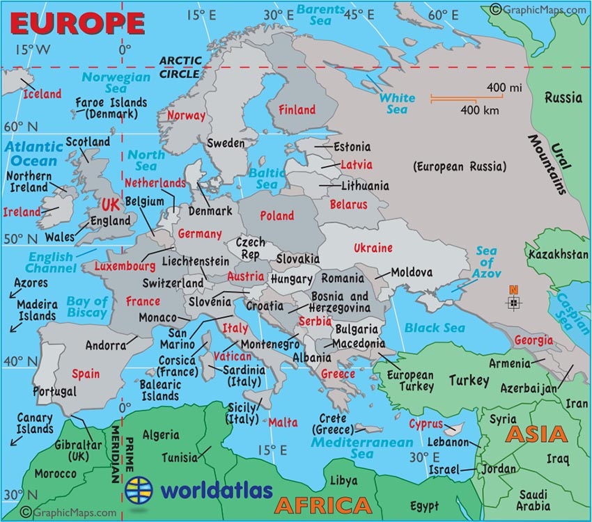 5 Images of Large Printable European Map