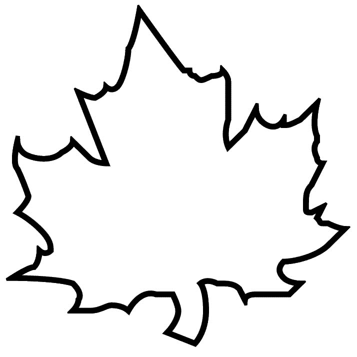4 Images of Maple Leaf Template Printable Free