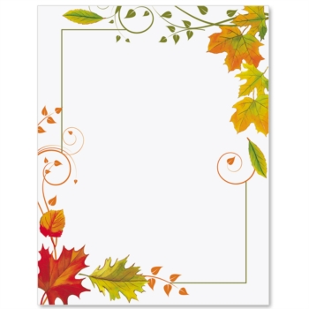 9 Best Images of Fall Border Templates