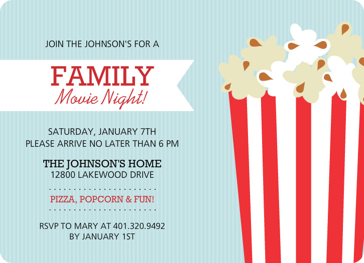 7 Images of Printable Movie Night Flyer Template
