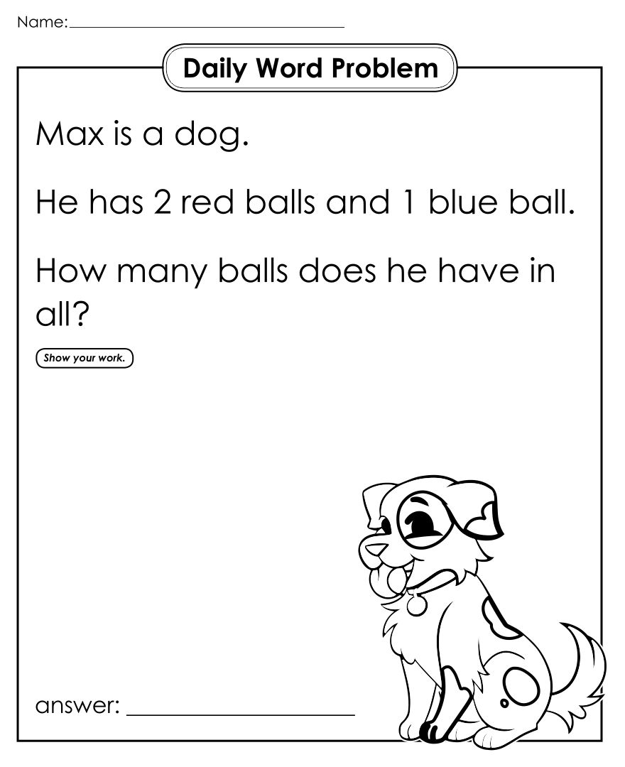 math worksheet : 7 best images of 2nd grade story problems printable  2nd grade  : 1st Grade Math Word Problems Worksheets