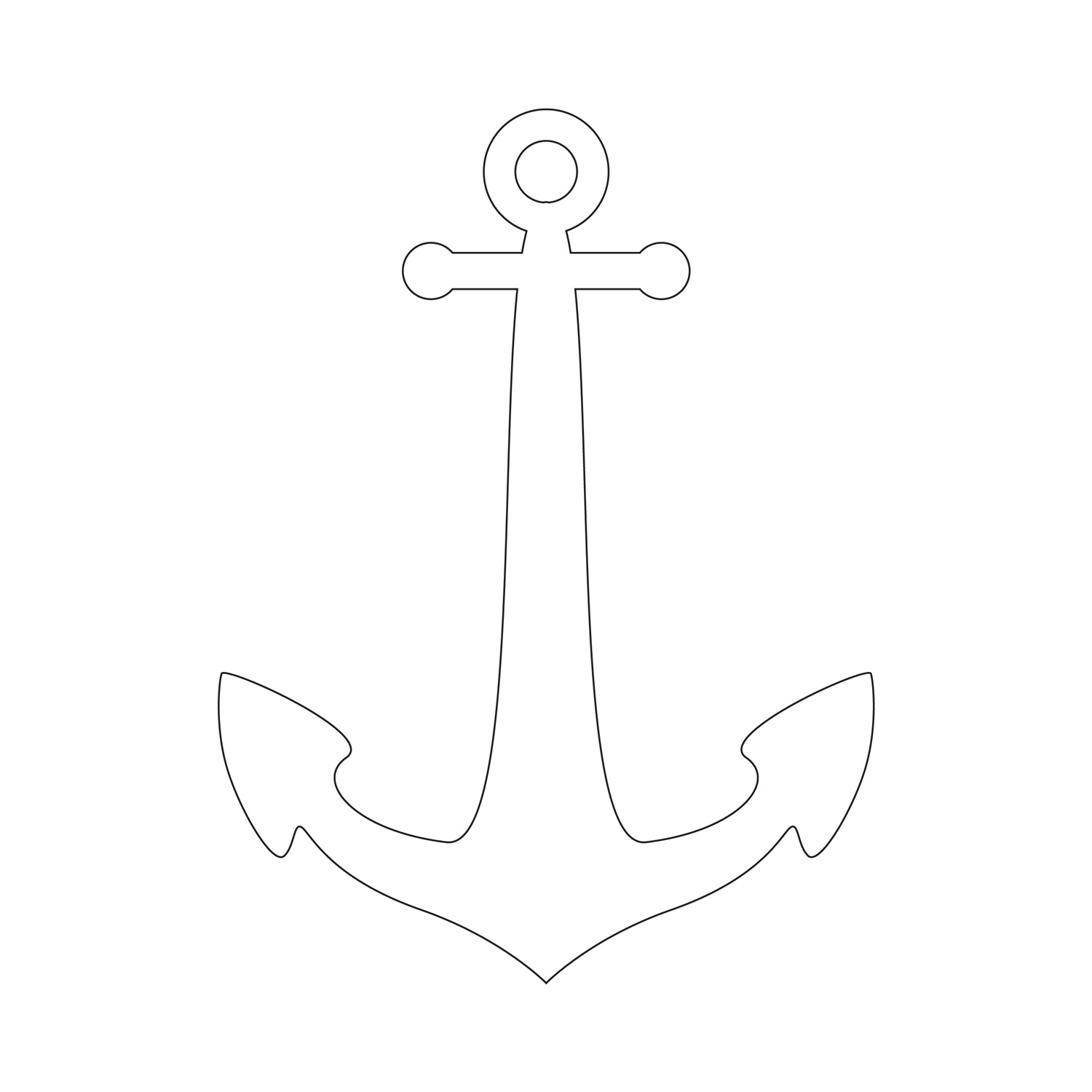 7 Images of Anchor Stencil Printable