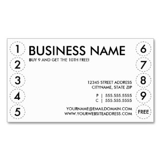 8 best images of punch card printable template free for Frequent diner card template