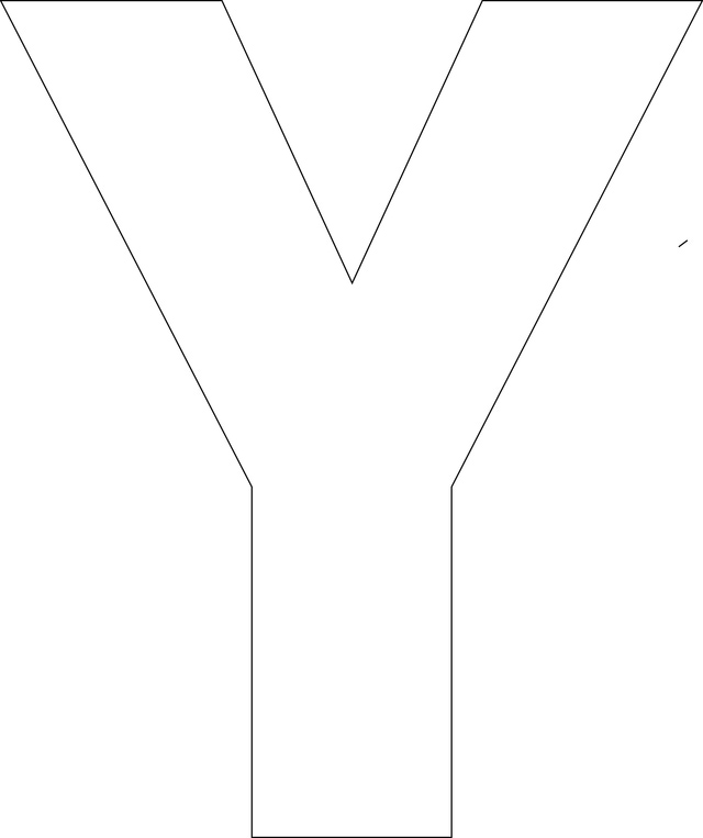 4 Images of Printable Letter Y Template