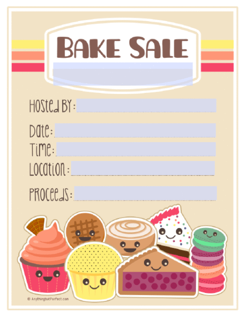 9 Images of Free Printable Bake Sale Templates