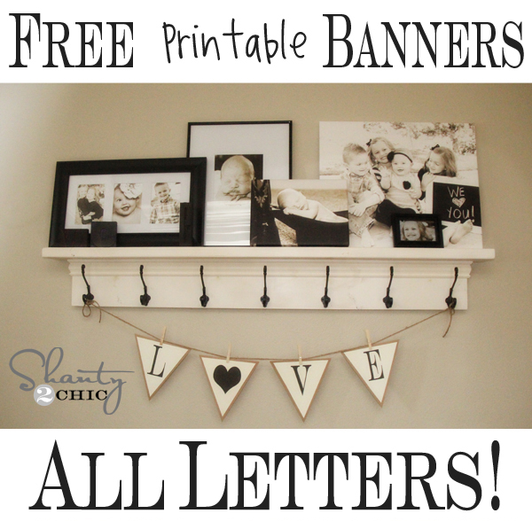 8 Images of Free Printable Banner Letters And Shapes