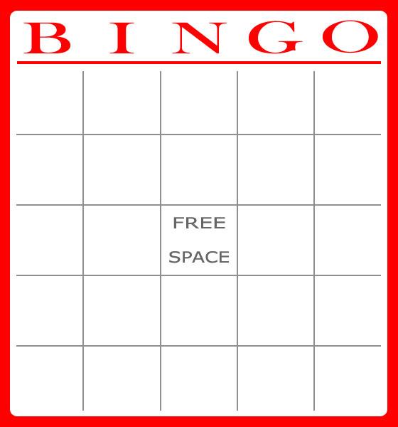 6 Images of Printable Bingo Forms