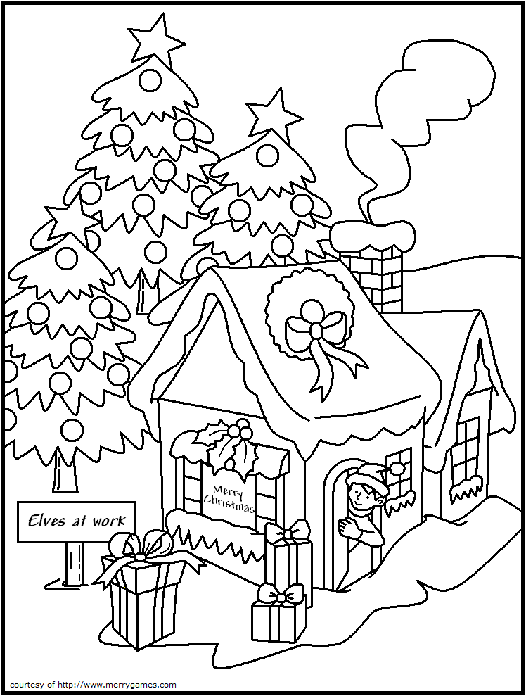 6 best images of christmas games free printable pages for Adult christmas coloring pages