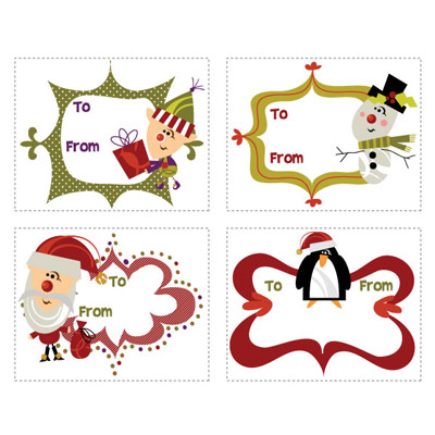 6 Images of Disney Jr Printable Gift Tags