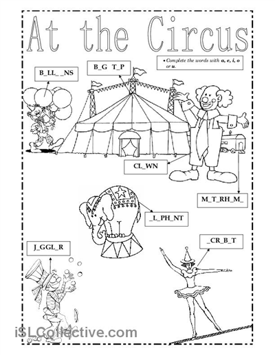 circus theme preschool coloring pages - photo#24