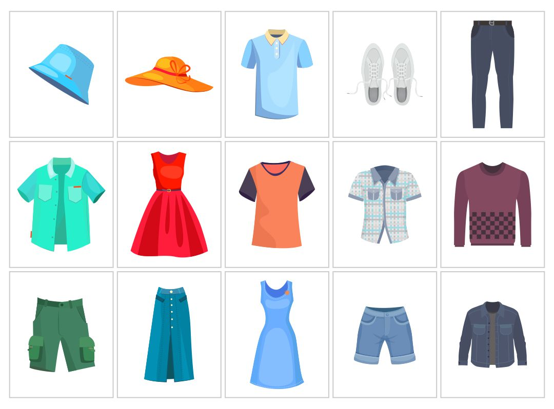 8 Images of Printable Clothes Flashcards For Toddlers