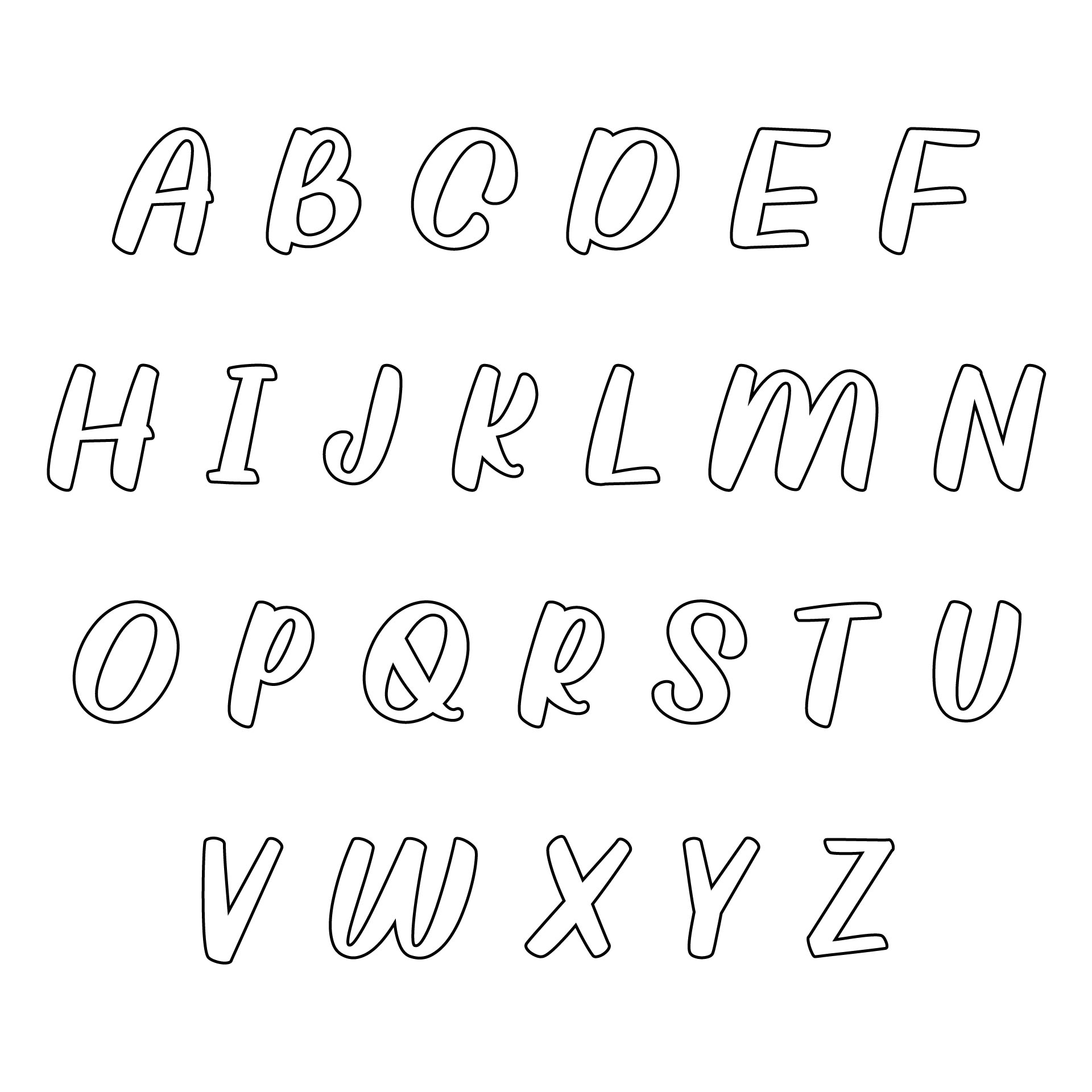 Printable Cut Out Alphabet Stencils