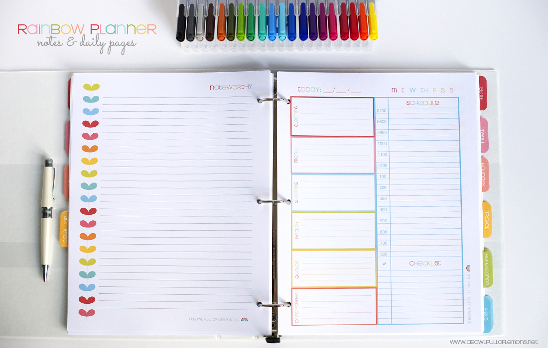 Free Printable Daily Planner Pages 2015