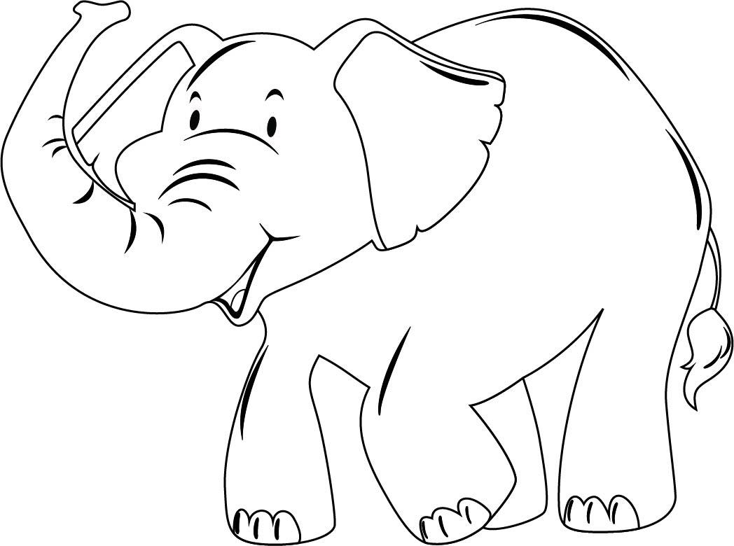 Printable Elephant Template