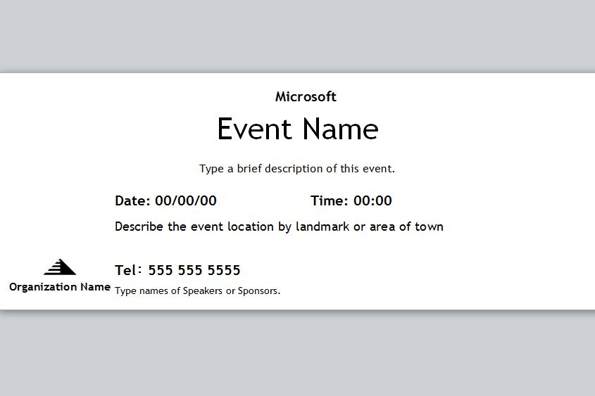 printable event ticket template free