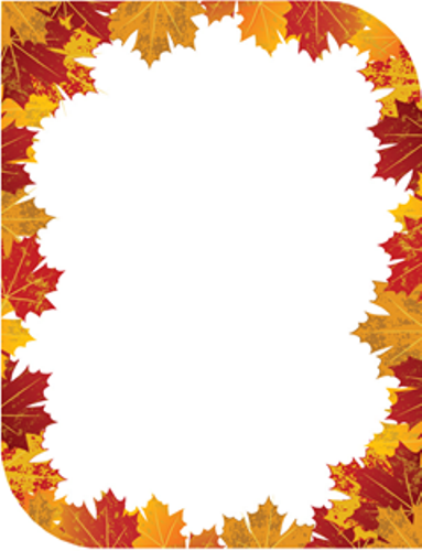 9 best images of fall border templates printable fall for Autumn leaf template free printables