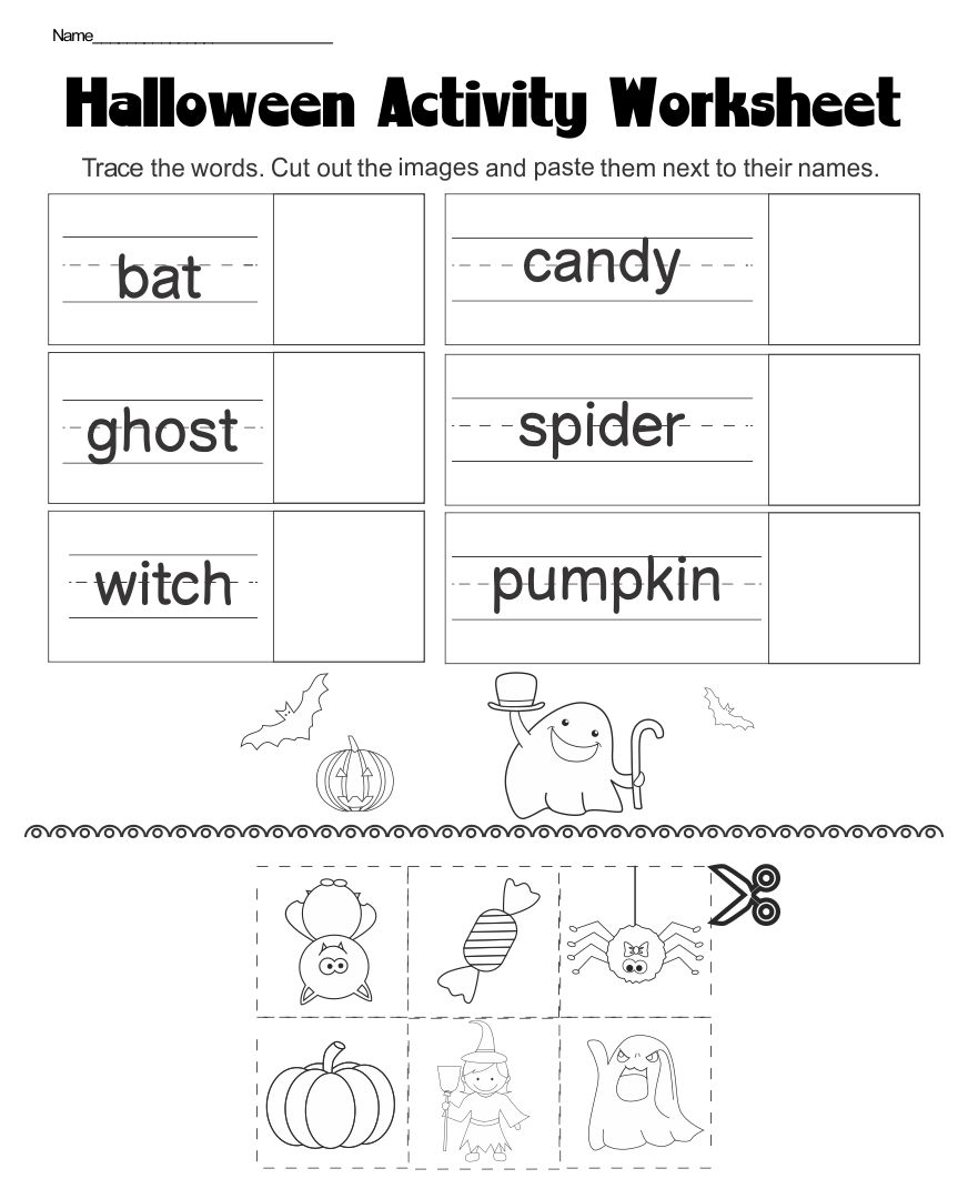 4 Images of Halloween Worksheets Printables