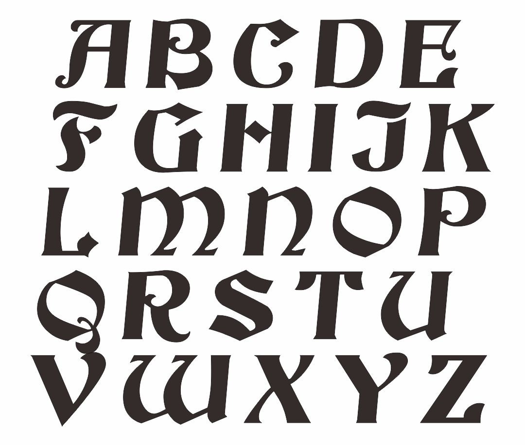 Printable Letter Stencil Patterns