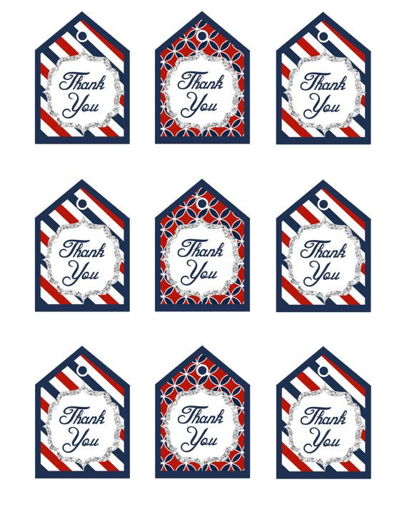 6 Images of Printable Nautical Thank You