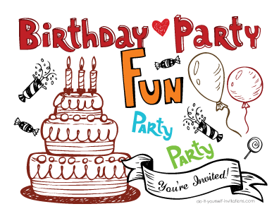 8 Images of Printable Birthday Postcards