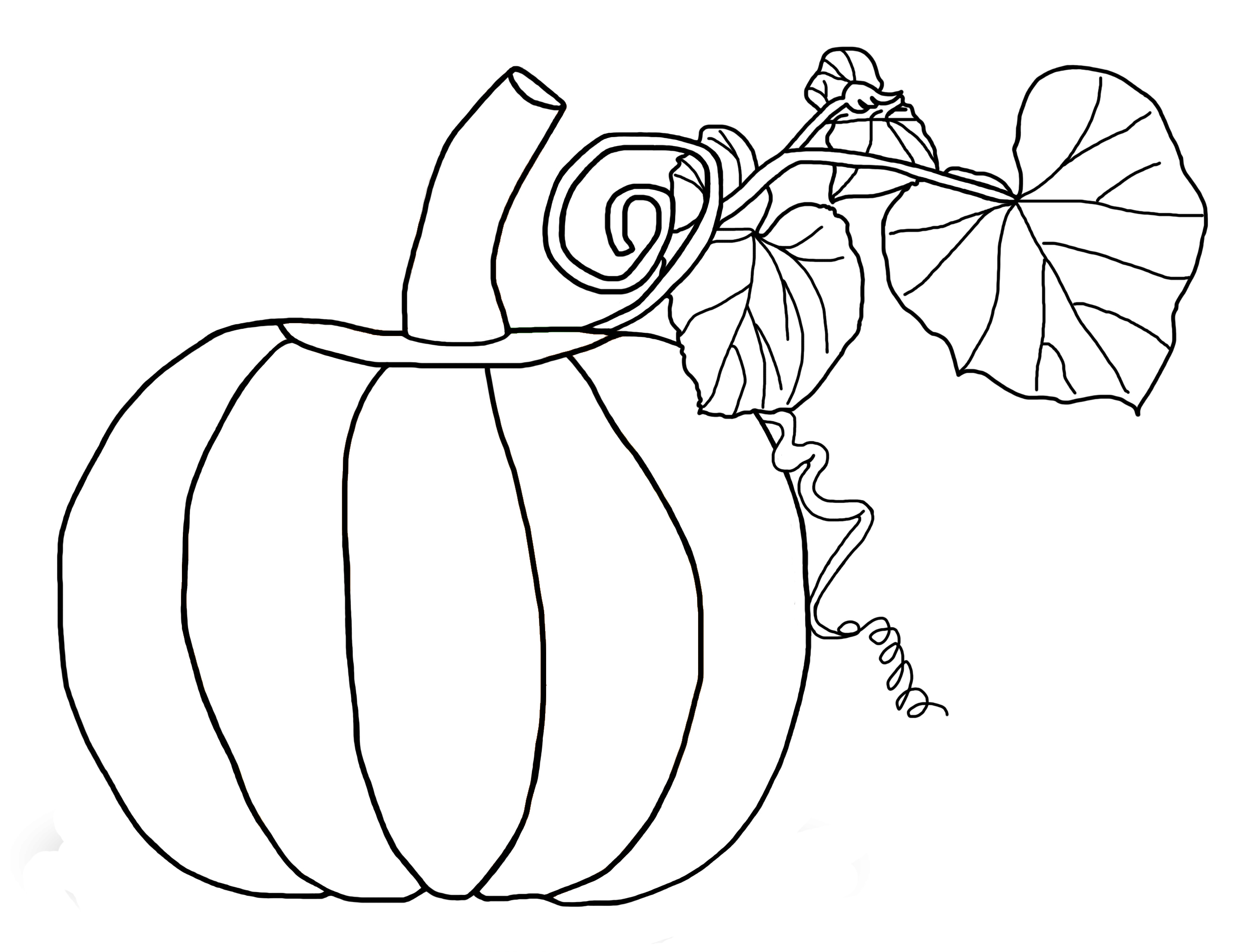 6 Images of Free Printable Pumpkin Coloring Pages Kids