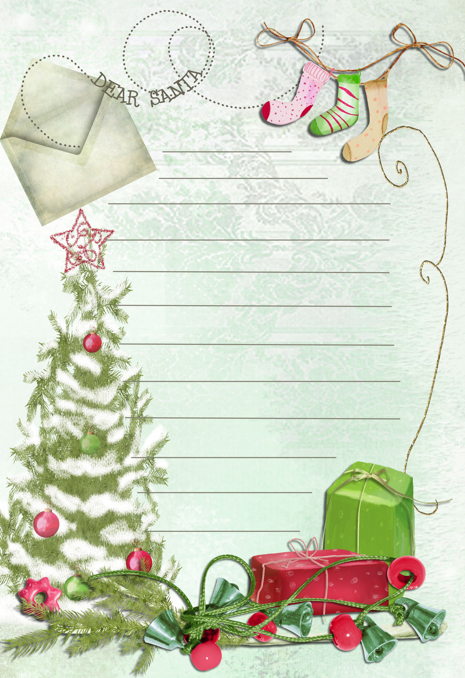 7 Images of Free Printable Letter From Santa Template