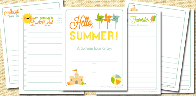 Free Printable Summer Journal Pages for Kids