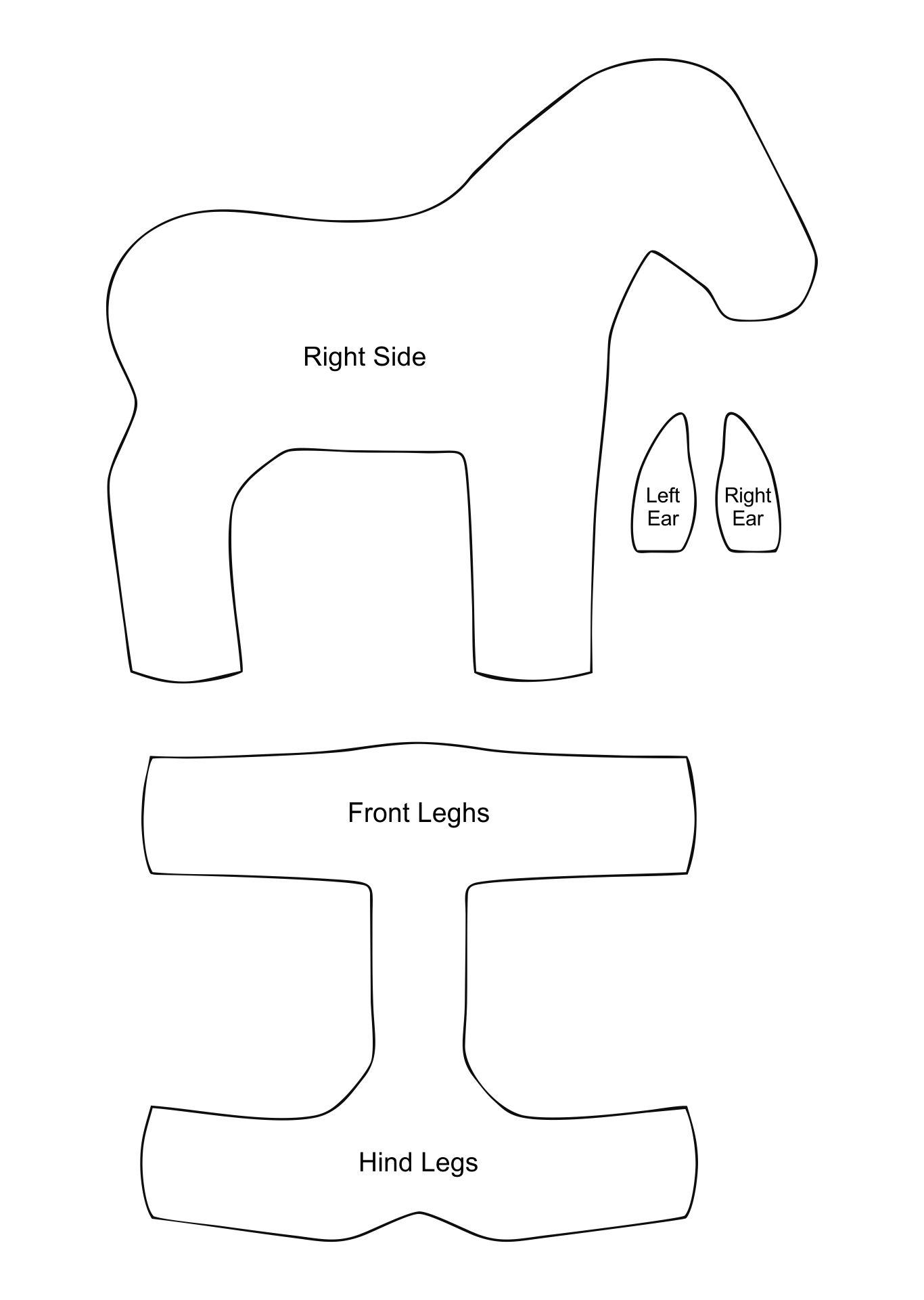 Stuffed Horse Sewing Pattern