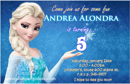Frozen Birthday Invitations Free Printable Template