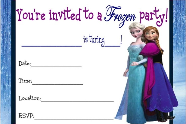 Frozen Birthday Invitations Printable Free