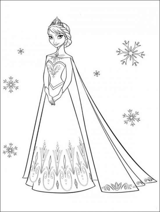 8 Images of Free Printable Disney Frozen Coloring Pages