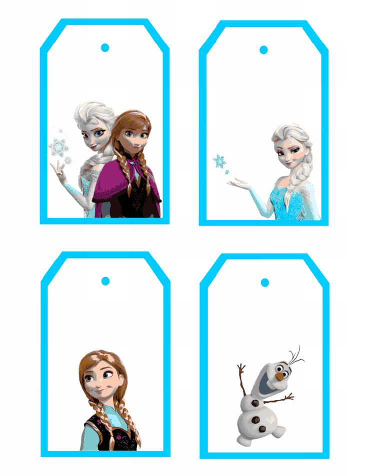 8 Images of Printable Frozen Gift Tags