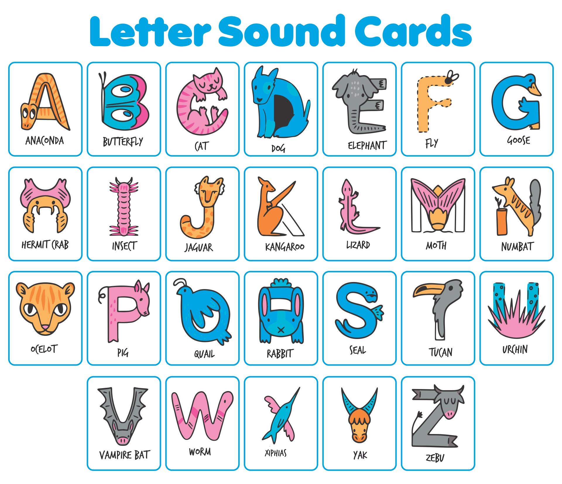Fundations Letter-Sound Cards