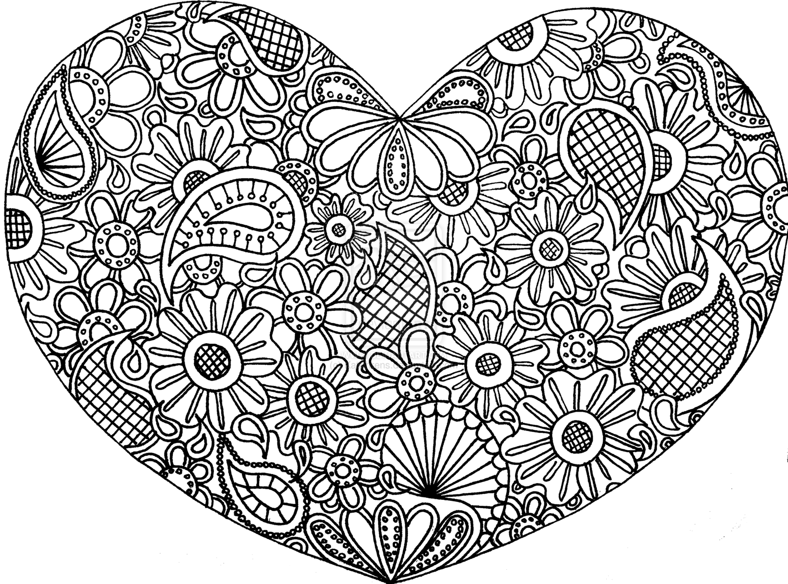 8 Images of Printable Detailed Doodle Art Page