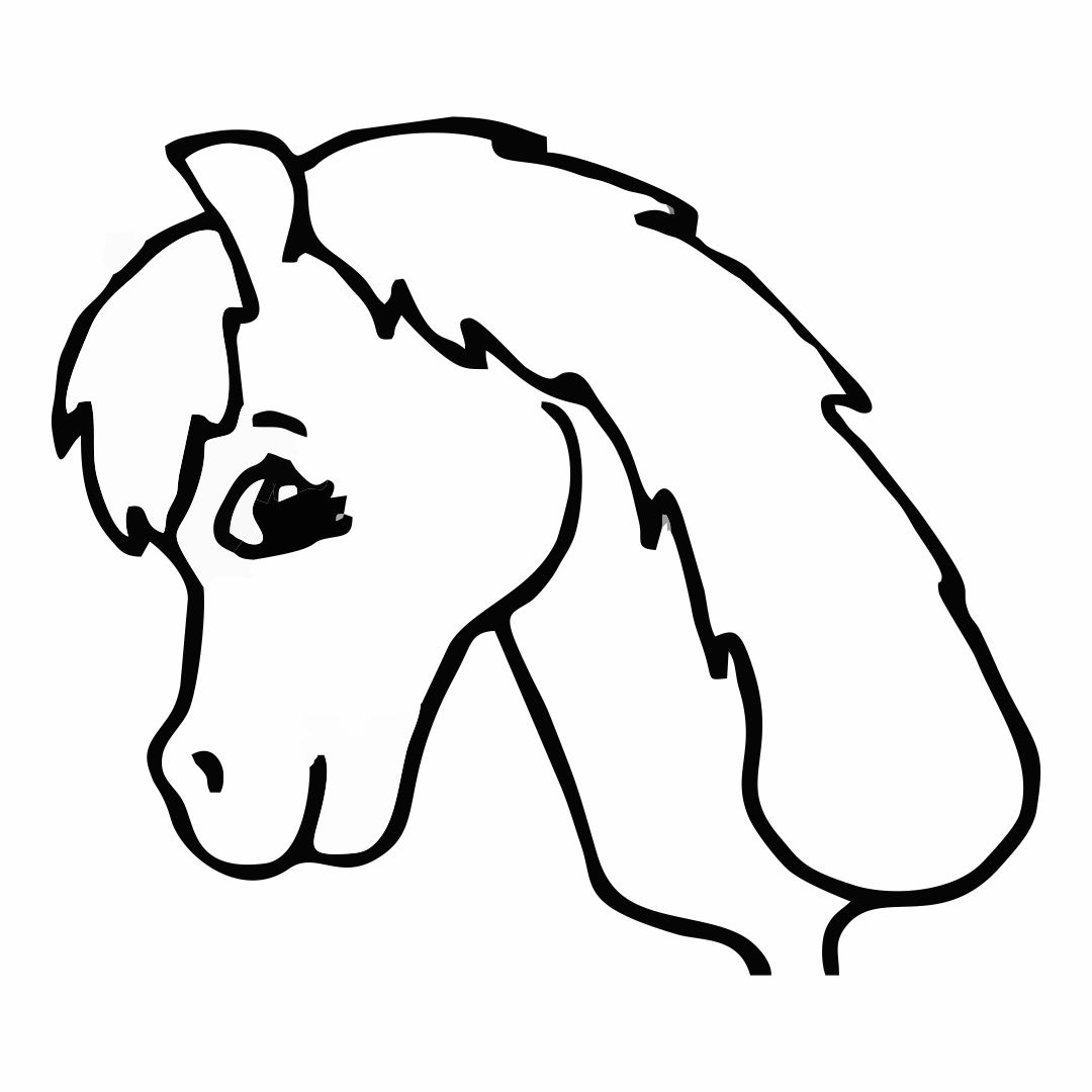 Horse Head Cut Out Template