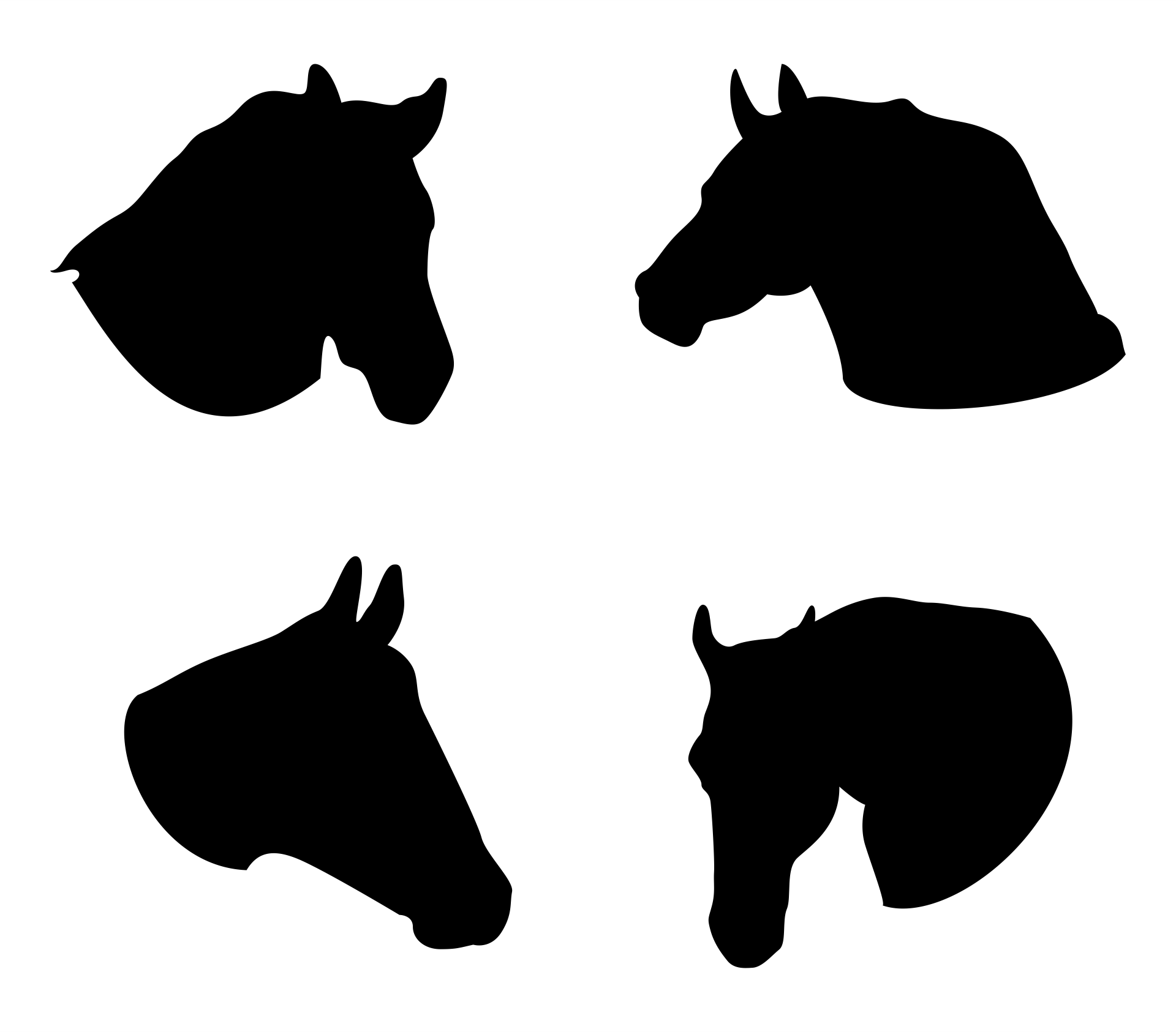 7 best images of horse head template printable