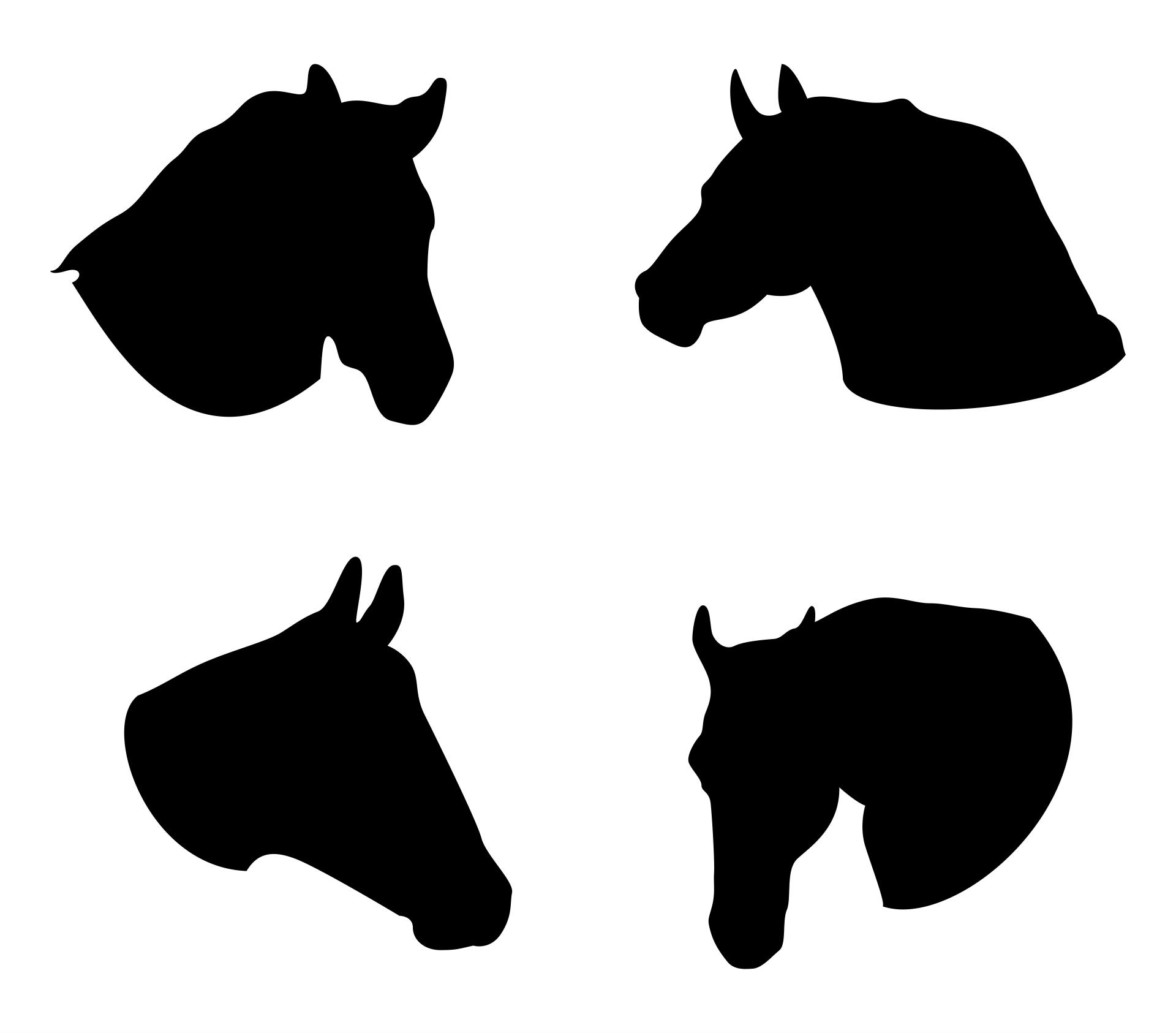 Horse Head Silhouette Clip Art
